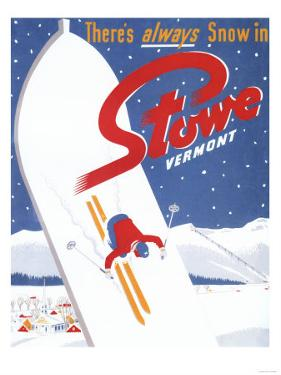 Stowe, Vermont - Sweeping S by Lantern Press