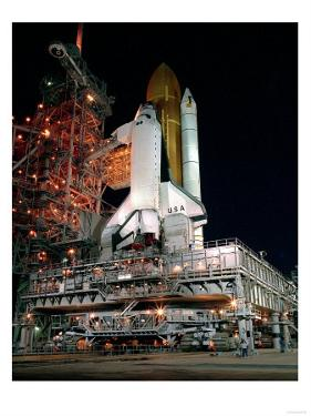 STS-28 Rollout Photograph - Cape Canaveral, FL by Lantern Press