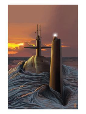 Submarine and Sunset by Lantern Press
