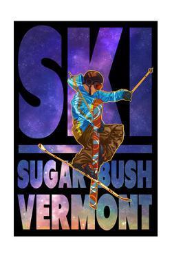 Sugarbush, Vermont - Milky Way Skier by Lantern Press