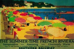 Summertime French Riviera Vintage Poster - Europe by Lantern Press