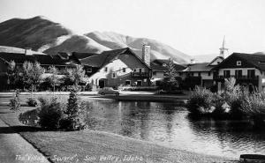 Sun Valley, Idaho - Village Square Scene by Lantern Press