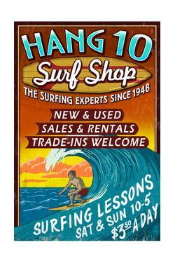 Surf Shop - Vintage Sign by Lantern Press