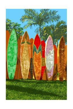 Surfboard Fence by Lantern Press