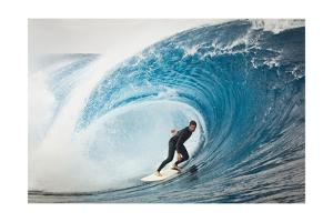 Surfer in Perfect Wave by Lantern Press
