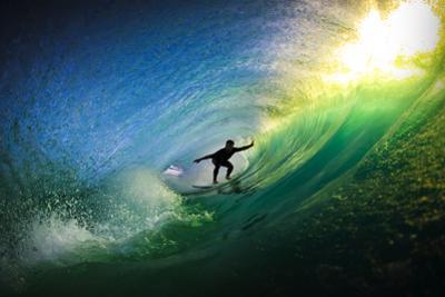 Surfer in Tube by Lantern Press