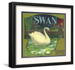 Swan Orange Label - Redlands, CA by Lantern Press