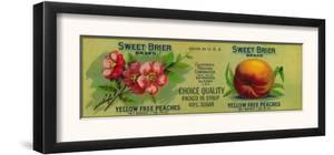 Sweet Brier Peach Label - San Francisco, CA by Lantern Press