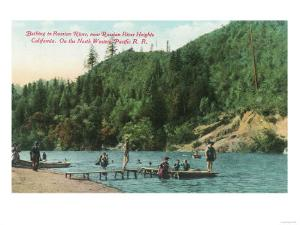 Swimming Near the Dock on the Russian River - Russian River Heights, CA by Lantern Press
