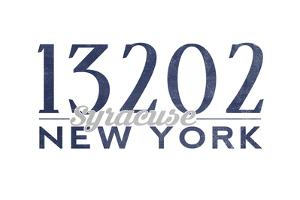 Syracuse, New York - 13202 Zip Code (Blue) by Lantern Press