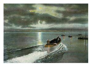Syracuse, New York - Moonlight Boatride on Onondaga Lake by Lantern Press