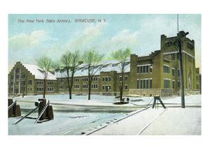 Syracuse, New York - NY State Armory Exterior View by Lantern Press