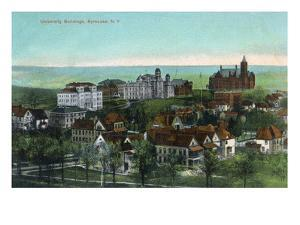 Syracuse, New York - Panoramic View of the University and Grounds by Lantern Press