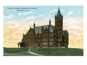 Syracuse, New York - Syracuse University, Crouse College View by Lantern Press