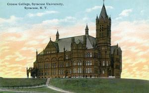 Syracuse, New York - Syracuse University, Crouse College View by Lantern Press