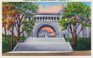 Syracuse, New York - Syracuse University; Stadium Entrance View by Lantern Press