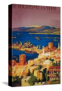 Syria - French Travel Poster, Touring in Syria by Lantern Press