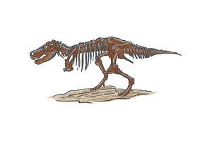 T-Rex - Icon by Lantern Press