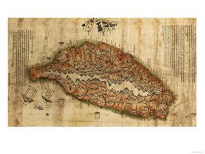 Taiwan - Panoramic Map by Lantern Press