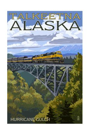 Talkeetna, Alaska - Hurricane Gulch by Lantern Press