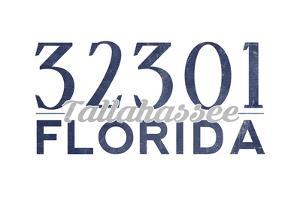 Tallahassee, Florida - 32301 Zip Code (Blue) by Lantern Press