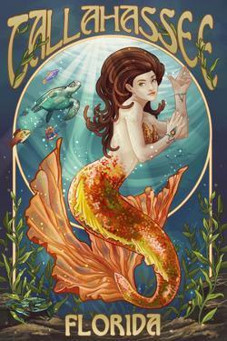 Tallahassee, Florida - Mermaid by Lantern Press