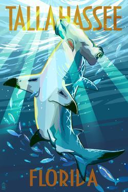 Tallahassee, Florida - Stylized Tiger Shark by Lantern Press
