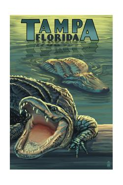 Tampa, Florida - Alligators by Lantern Press