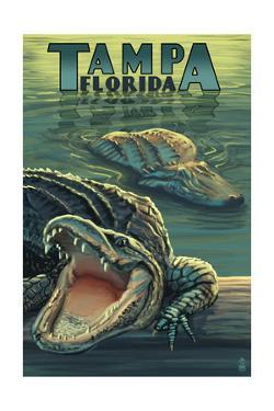 Tampa, Florida - Alligators by Lantern Press