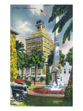 Tampa, Florida - City Hall Exterior View by Lantern Press