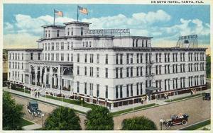 Tampa, Florida - De Soto Hotel Exterior View by Lantern Press