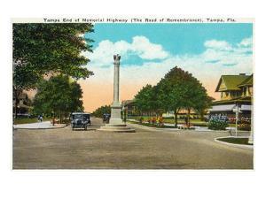 Tampa, Florida - Memorial Hwy, Road of Remembrance Scene by Lantern Press