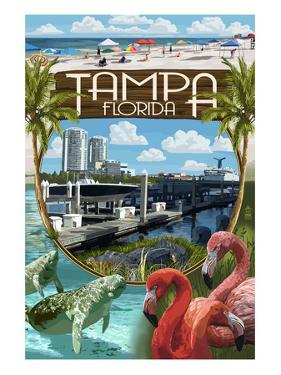 Tampa, Florida - Montage by Lantern Press