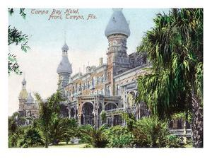 Tampa, Florida - Tampa Bay Hotel Entrance View by Lantern Press