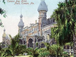 Tampa, Florida - Tampa Bay Hotel Entrance View by Lantern Press