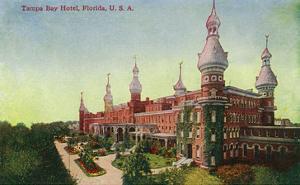 Tampa, Florida - Tampa Bay Hotel Exterior Scene by Lantern Press