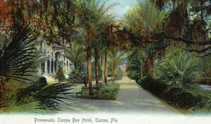 Tampa, Florida - Tampa Bay Hotel Exterior View from Promenade by Lantern Press
