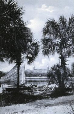 Tampa, Florida - Tampa Bay Hotel in Distance Photo by Lantern Press