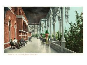 Tampa, Florida - Tampa Bay Hotel Porch Scene by Lantern Press