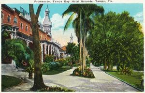 Tampa, Florida - Tampa Bay Hotel Promenade Scene by Lantern Press