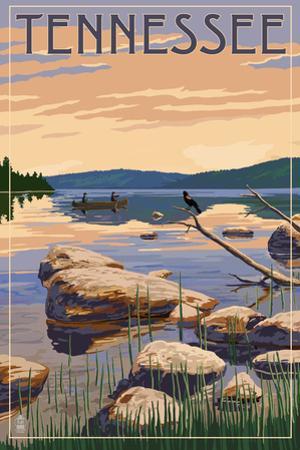 Tennessee - Lake Sunrise Scene by Lantern Press