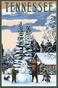 Tennessee - Snowman Scene by Lantern Press