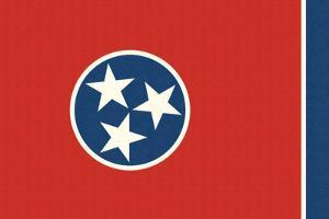 Tennessee State Flag by Lantern Press