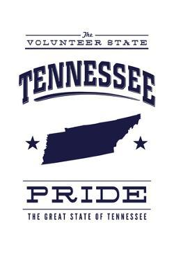 Tennessee State Pride - Blue on White by Lantern Press
