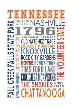 Tennessee - Typography by Lantern Press