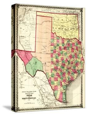 Texas and Indian Territory - Panoramic Map by Lantern Press