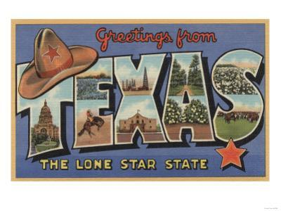 Texas - Greetings From The Lone Star State by Lantern Press