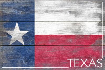 Texas State Flag - Barnwood Painting by Lantern Press