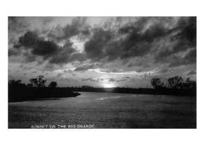 Texas - Sunset on the Rio Grande by Lantern Press