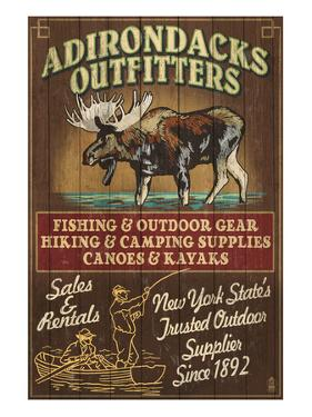 The Adirondacks - Long Lake, New York State - Moose Outfitters by Lantern Press